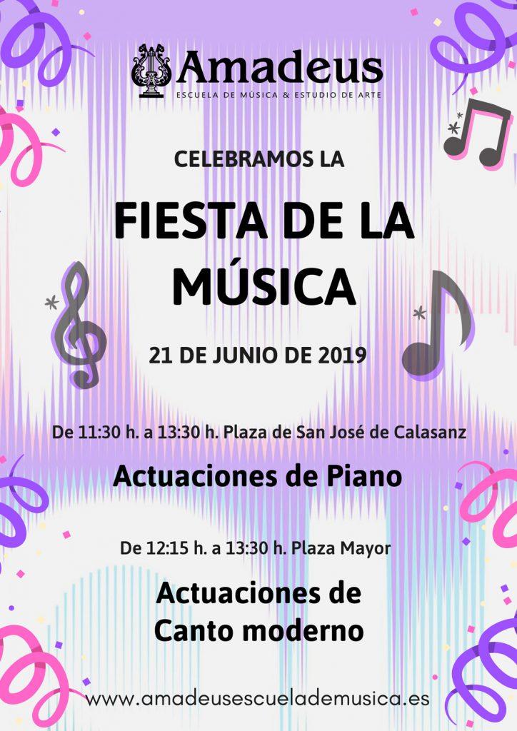 Fiesta de la Música 2019, Actuaciones de Amadeus
