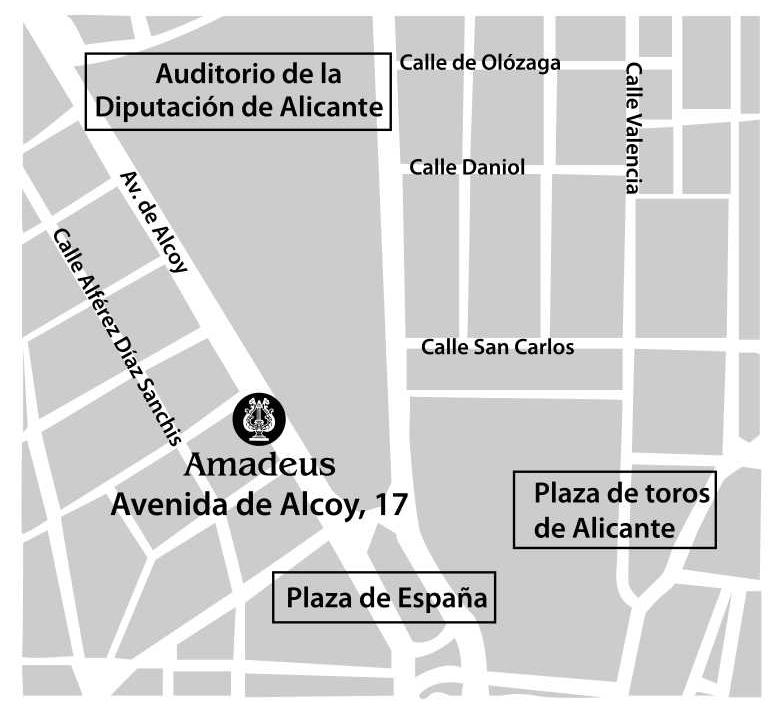 Plano Amadeus Escuela de Música Alicante
