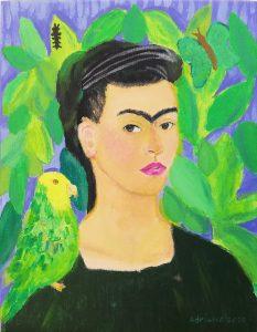 Adriana Navarro (11 años) – Autorretrato con Bonito (1941) de Frida Kahlo
