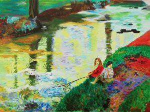 Ana González García – Los jóvenes pescadores (c.1920) de Laura Knight