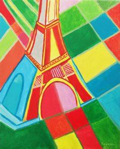 Ariana Berdugo (9 años) – Torre Eiffel (1926) de Sonia Delaunay