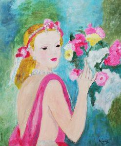 Beatriz Aguilar Ruiz – Joven con ramo de flores (1938) de Marie Laurencin