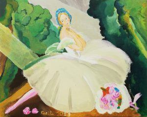 Cecilia Donate (9 años) – La bailarina Ulla Poulsen en el Ballet Chopiniana (1927) de Gerda Wegener