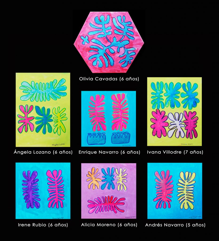Alumnos de 6 años: obras inspiradas en la artista Mitjili Napurrula