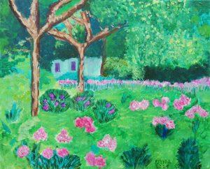 Elena Cantos (7 años) – El jardín de Monet en Giverny (1925) de Blanche Hoschedé-Monet