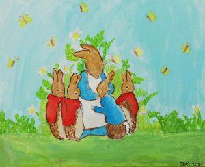 """Inés García (9 años) – """"Petter Rabbit"""" (1902) de Beatrix Potter"""