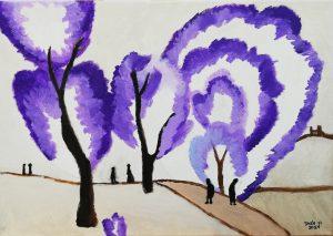 Inés Yi Alfaro (11 años) – Escarcha (1910) de Natalia Goncharova