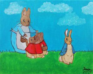 "Irene Picazo (9 años) - ""Petter Rabbit"" (1902) Beatrix Potter"