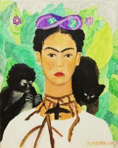 Jimena Gil (9 años) – Autorretrato con collar de espinas (1940) de Frida Kahlo