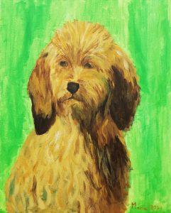 María Molina (10 años) – El perro Brizo (1864) de Rosa Bonheur