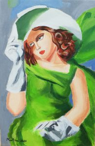 Martina Henar Pérez (9 años) – Muchacha con guantes (1927) de Tamara de Lempicka