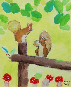 """Patricia Donate (7 años) – """"Squirrel Nutkin"""" (1903) de Beatrix Potter"""