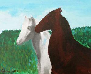 Patricia Urbano (9 años) – Dos caballos (c. 1889) de Rosa Bonheur