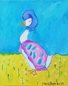 "Penélope López (6 años) – ""Jemima Puddle-Duck"" (1908) de Beatrix Potter"