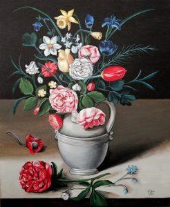 Raquel Jiménez Molina (profesora) – Detalle de Bodegón con flores (1611) de Clara Peeters