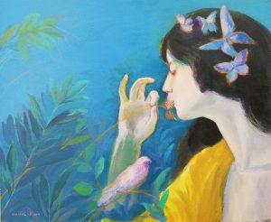 Virginia de León (profesora) – Mariposas (c. 1898) de Phoebe Anna Traquair