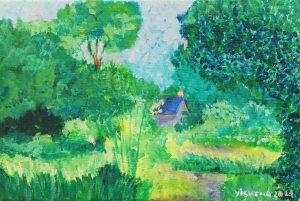 Yisheng Liu (8 años) – El jardín (c. 1890) de Blanche Hoschedé-Monet