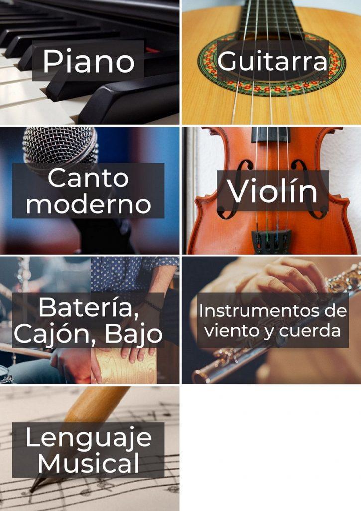 Formación instrumental, Escuela Amadeus